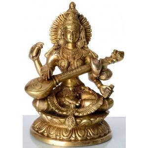 Saraswati 24 cm Messing