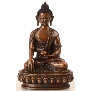 Akshobhya /Shakyamuni 15 cm oxidiert Buddhastatue