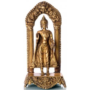 Buddha Standing 19 cm Messing