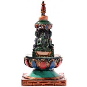 Stupa - Chörten 15 cm Resin bemalt 2
