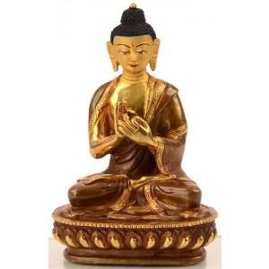 Vairocana 15 cm teilfeuervergoldet Buddha Statue