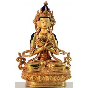 Vajradhara 22 cm vollfeuervergoldet Buddha Statue