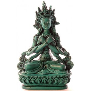 Vajradhara 15,5 cm Buddha Statuen Resin türkis