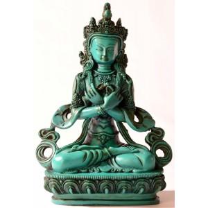 Vajradhara 20 cm Buddha Statuen Resin türkis
