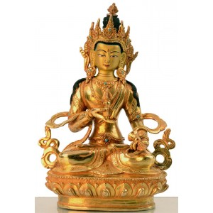 Vajrasattva 22 cm vollfeuervergoldet Buddha Statue