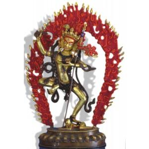 Vajravarahi  35 cm feuervergoldet Buddha Statue