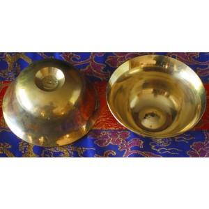 Buddhistische Wasser-Opferschalen Messing