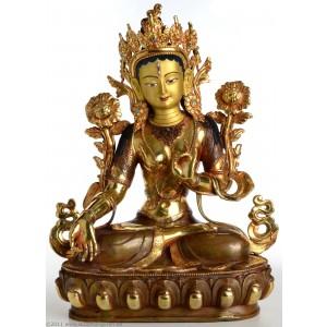 Weiße Tara 33 cm teilfeuervergoldet
