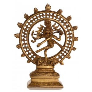 Shiva dancing - Nataraja 17,5 cm Messing