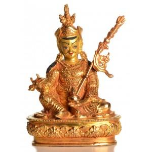 Guru Rinpoche - Padmasambhava 12 cm vollfeuervergoldet Buddha Statue