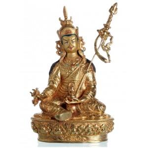 Padmasambhava - Guru Rinpoche  24 cm Buddha Statue vollfeuervergoldet