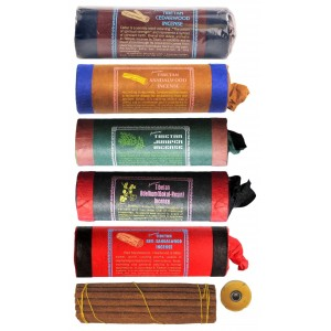 Räucherstäbchen 5er Set Tibetan Cedar-Sandalwood-Juniper-Bedellium Incense