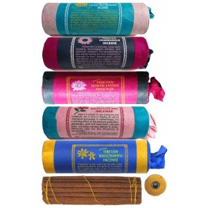 Räucherstäbchen 5er Set Tibetan Nagchampa-Flower-Rose-White Lotus-Chamonile Incense