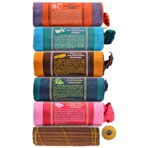 Räucherstäbchen 5er Set Tibetan -Agarwood-Valerian-Amber-Basil-Clarysage Incense
