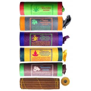 Räucherstäbchen 5er Set Tibetan Wild Flora-Frank-Spikenard-Mokchhya-Kamasutra Incense