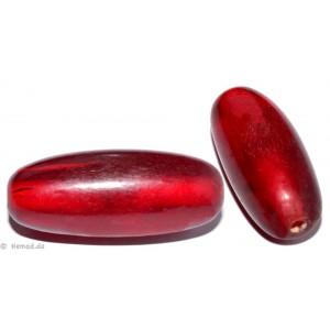 Resin-Perlen rot 34mm - 2 Perlen