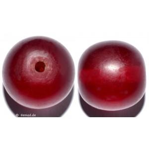 Resin-Perlen rot 25mm - 2 Perlen