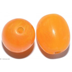 Resin-Perlen amber 20mm - 4 Perlen