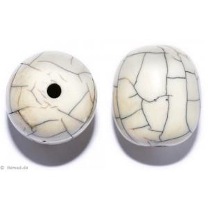 Resin-Perlen weiß19mm - 2 Perlen