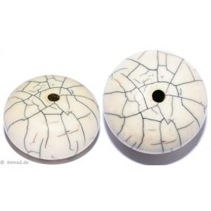 Resin-Perlen weiß 22mm - 2 Perlen