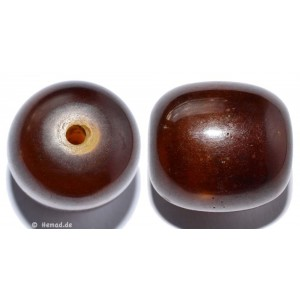 Resin-Perlen braun 23mm - 1 Perle