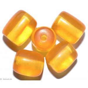 Resin-Perlen amber 14mm - 8 Perlen