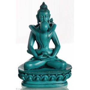 Samantabhadra 13cm Buddha Figur türkis