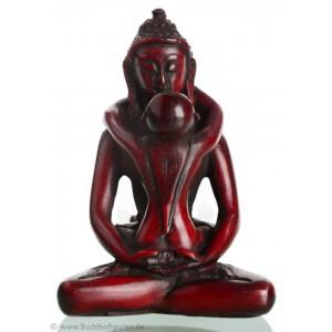 Samantabhadra  8 cm Buddha Figur rot braun