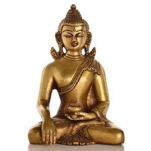 Akshobhya / Shakyamuni Messing 15,5 cm Buddha-Statue