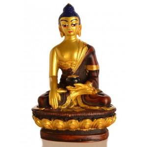 Akshobhya / Shakyamuni 11,5 cm Buddha Statue Resin golden
