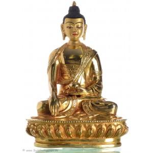 Akshobhya / Shakyamuni 15 cm vollfeuervergoldet Buddhastatue