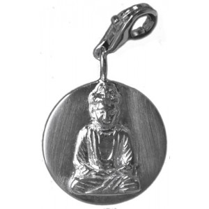 Silberanhänger  Buddha Amitabha 26mm