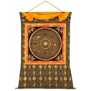 Thangka Mandala Chenrezi Mantra 121 cm x 152 cm