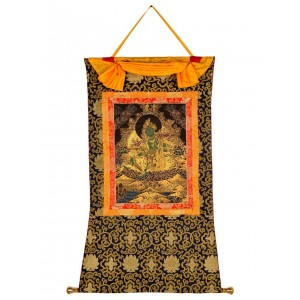 Thangka Grüne Tara golden  78 cm x 106 cm