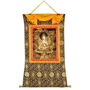 Thangka Weiße Tara golden