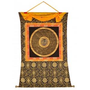 Thangka - Mandala Grüne Tara Mantra