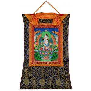 Thangka - Vajrasattva - Dorje Sempa 58 x 85 cm