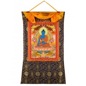Thangka Medizinbuddha 72x114 cm
