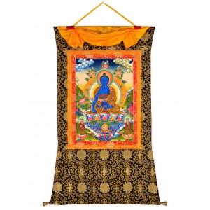 Thangka Medizinbuddha 92 x 130cm