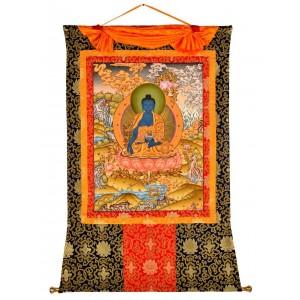 Thangka Medizinbuddha 99 x 128 cm