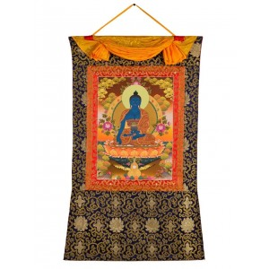 Thangka Medizinbuddha 78x118 cm