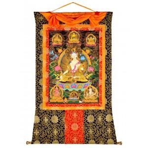 Thangka - Weiße Tara 94 x 128 cm