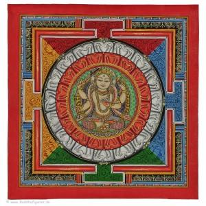 Yantra Thangka Manjushri 34 x 34 cm