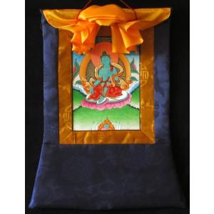 Thangka Grüne Tara 25X36 cm