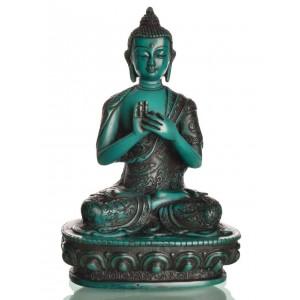 Vairocana Buddha Statue 19 cm Resin türkis