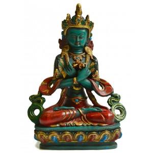 Vajradhara 20 cm Buddha Statuen Resin türkis bemalt