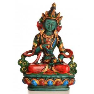 Vajrasattva 15,5 cm Buddha Statue Resin türkis bemalt