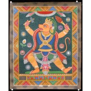 Newari Thangka -  Hanuman ca. 45 cm x 55 cm