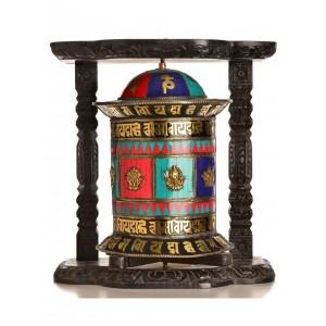 Wand-Gebetsmühle Mosaik - 44 cm
