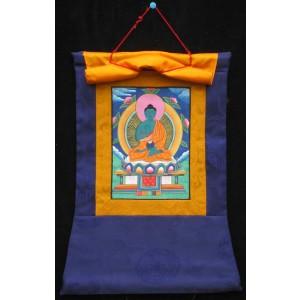 Thangka Meditationsbuddha Amoghasiddhi